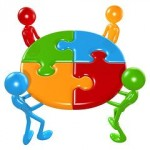 pciture of a online marketing agency putting together a puzzle